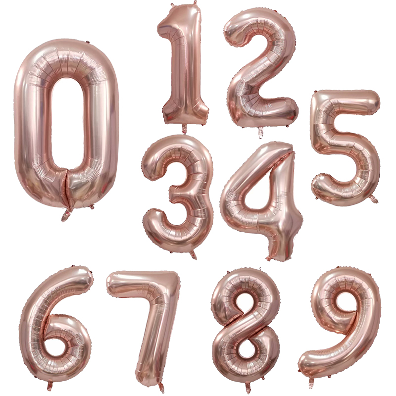 30 40inch Big Foil Helium Number Balloons For Party And Birthday Decorations 5
