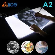A2 desenho tablet led gráficos digitais caixa de luz almofada pintura rastreamento painel pintura diamante acessórios copyboard tipo c power