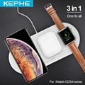 3 в 1 Airpower Qi Быстрое беспроводное зарядное устройство Pad Qi Беспроводное зарядное устройство держатель для Apple Watch 5 4 3 2 1 для мобильных телефоно...