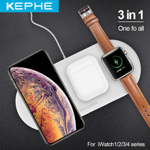 3 in 1 Airpower Qi Fast Wireless Charger Pad Qi Wireless Charger Holder for Apple Watch 5 4 3 2 1 for mobile phones Fast Charger