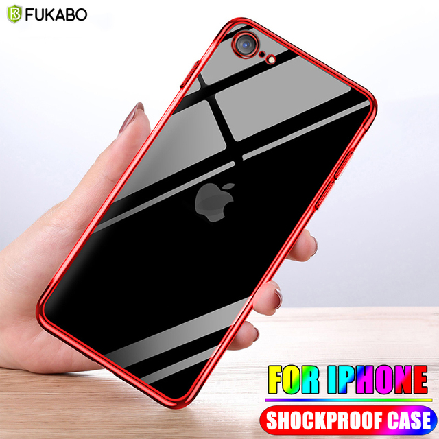 Shockproof Case For iPhone SE 2020 Soft TPU Silicone Case iPhone SE 2020 Phone Cases For iPhone X 7 8 6 6s Plus 5 5s Back Cover