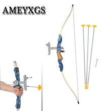 1set Archery Children Bow and arrow set Ace shooter rubber Safety Sucker arrow Shooting Practice Game Bow Gift цена