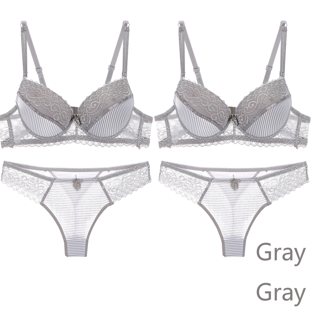 2PCS/Lot Women Bra Set Intimates Lace Hollow out Briefs Underwear Set Solid Sexy Bra And Panty Sets