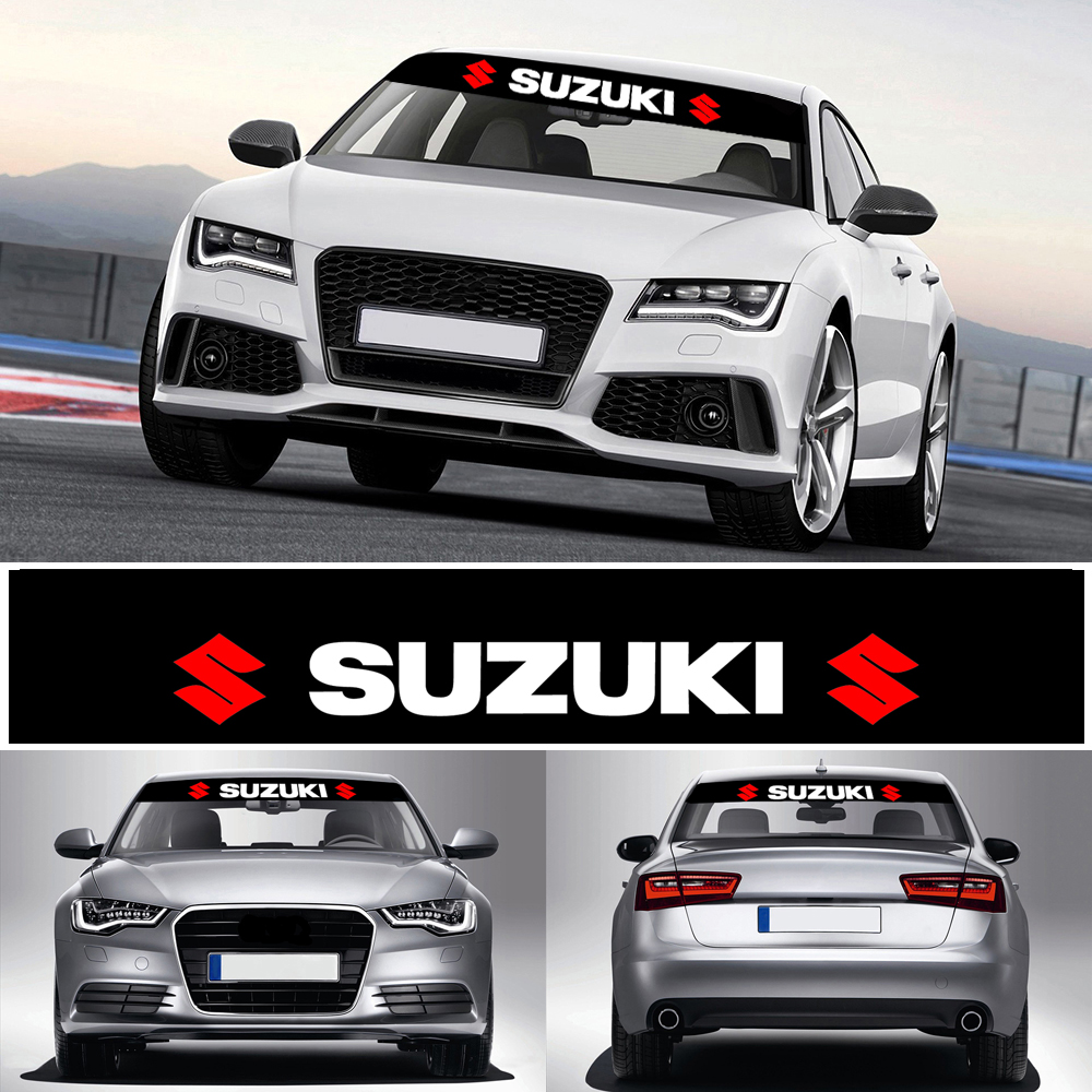 1 Pcs Car Front And Rear Sunshade Windshield Reflective Stickers Windshield Decal Sticker Car Decoration For Suzuki Car Styling
