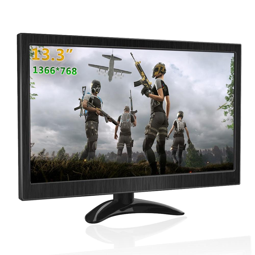 13.3 polegada portátil monitor 1366x768 gaming pc monitor hdmi monitor lcd portátil para ps4 raspberry pi xbox cctv portátil monitor