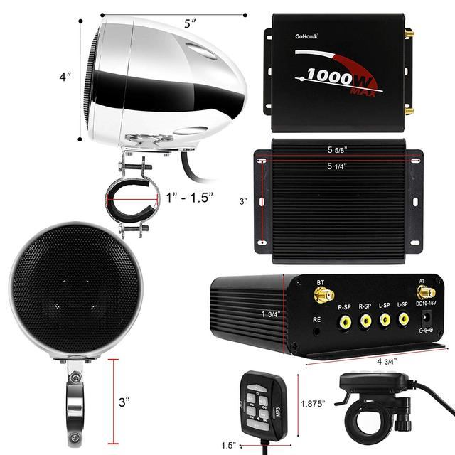 Motorcycle Audio 4 Channel Amplifier System 4
