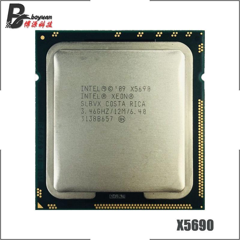 Lot of 2 Intel SLBVX Xeon X5690 LGA 1366//Socket B 3.4GHz Server CPU