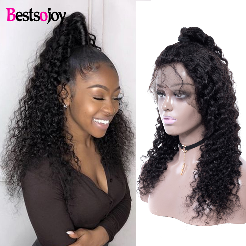 Curly Human Hair Wigs Pre Plucked With Baby Hair Bestsojoy 13x4 Remy Peruvian Wigs Lace Front Human Hair Wigs For Black Women