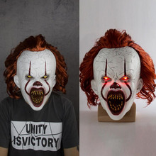 Latex Masks Clown Shine Halloween Cosplay It-Pennywise Costume-Props Horror Eyes The