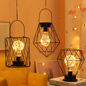 LED Retro Bulb Night Light Diamond Nordic style Creative Hotel Home Decoration Desk Lamp Hanging fairy Battery Powered
