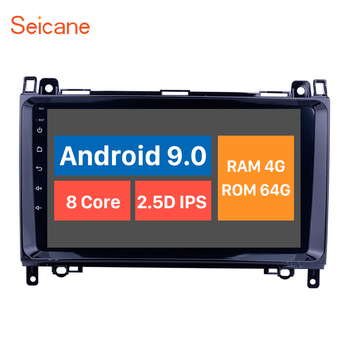 Seicane 9 Android 9.0 HD Car GPS Radio Player for 2004-2012 Mercedes Benz A W169 A150 A160 A170 A180 A200 with 4GB+64GB image