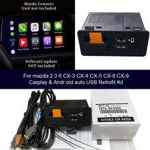 USB адаптер для Apple CarPlay Android авто для Mazda 3 Mazda 6 Mazda 2 CX30 CX5 CX8 CX9 MX5 Mazda CX-30 CX-5 CX-9 MX-5