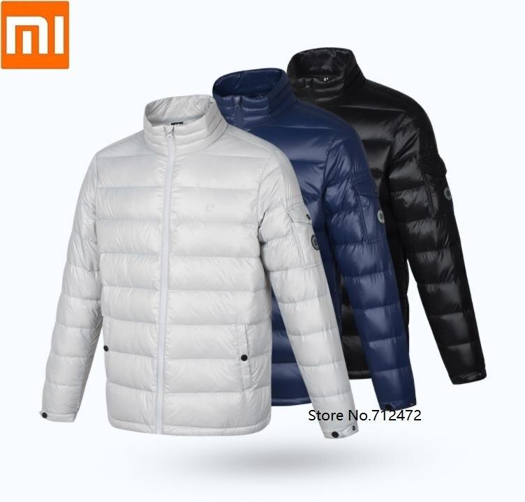 Xiaomi ULEEMARK men lightweight 90% white goose down jacket Waterproof Stand Collar Down Jacket Winter warm jacket