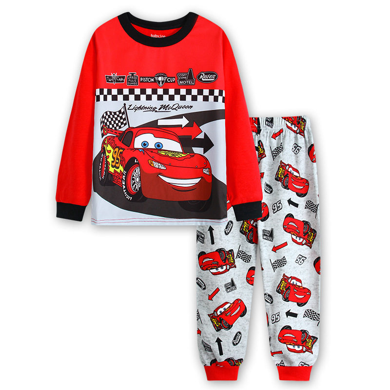 Kids Pajamas Pixar Cars Lightning McQueen Children Sleepwear Baby Sets Boys Girls Pyjamas Pijamas Cotton Nightwear Clothes