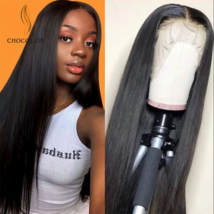 Long Lace Front Human Hair Wigs for Black Women Front Lace Humana lisa peruque femme Peruvian Hair Wigs Straight Free Shipping(China)