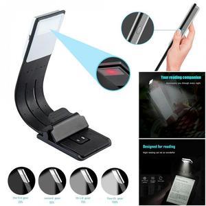Портативный креативный складной светодиодный светильник для чтения книг со съемным гибким зажимом, перезаряжаемая USB лампа для чтения элек...