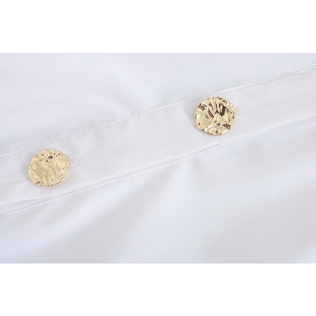 2020 New Fashion Pure white Women Blouses Long Sleeve Turn-down Collar Chiffon Blouse Shirt Casual Tops Slim Elegant Work Shirt 5