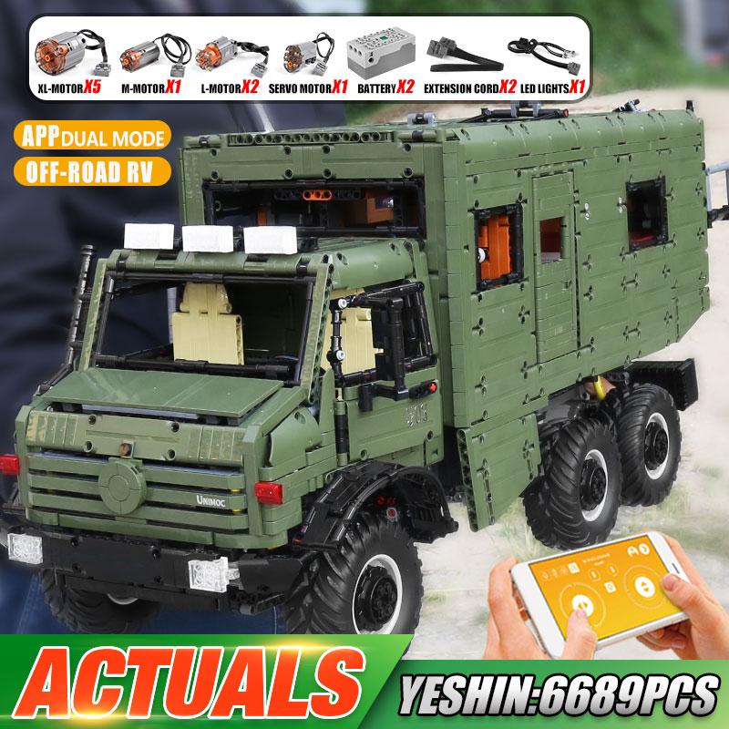 Yeshin J907 High-Tech Car Model The MOC Motorzied Nomadism RV Motorhome Building Blocks