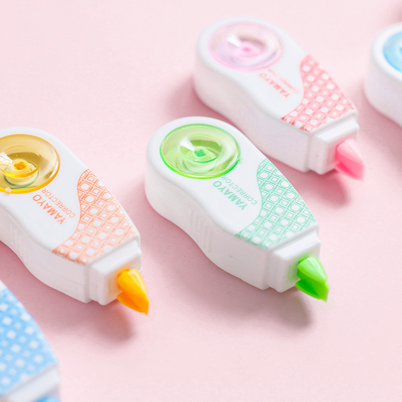 10pcs / Lot 10*8m Deco Correction Tape Mini Correction Ribbons Stationery Office Accessories Students School Supplies Papeleria