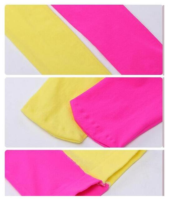 New Spring Summer Patchwork Girls Tights Velvet Pantyhose Baby Dancing Tights Mix Color Stockings For Girls Age 3-12T 6