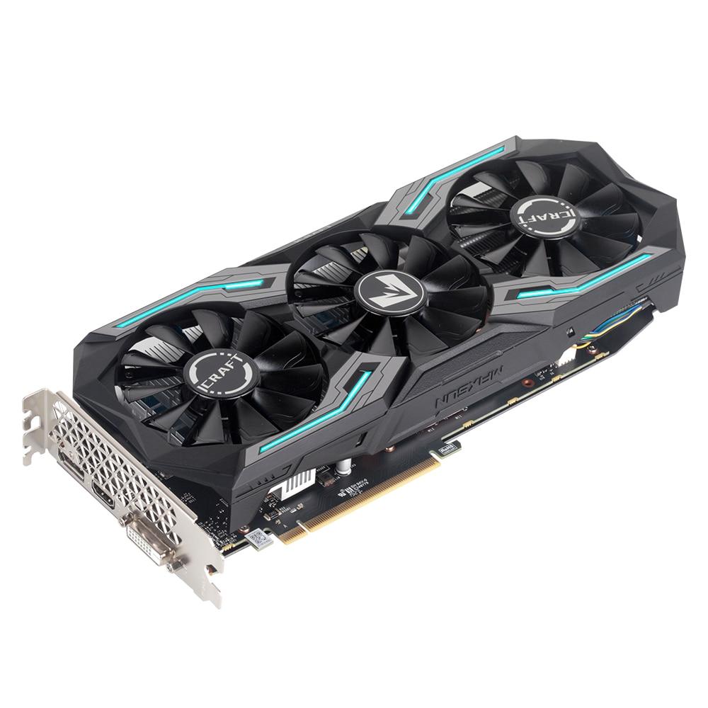 MAXSUN GeForce GTX1660 TI iCraft 6GB 192-Bit GDDR6 Graphics Cards PCI Express 3.0 x16 DP HDMI DVI HDCP Ready Video Card