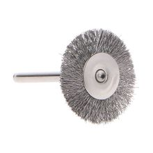 10pcs 22mm Platinum Blade Stainless Steel Wire Wheel Brush Dremel Rotary Tool for Mini Drill Polishing Accessories