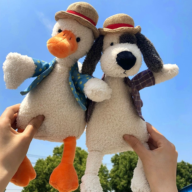 25-35 CM Cute Dog And Duck Plush Toys Baby Soft Toys Popular Toys Stuffed & Plush Animals Plush Toys For Children Boys And Girls