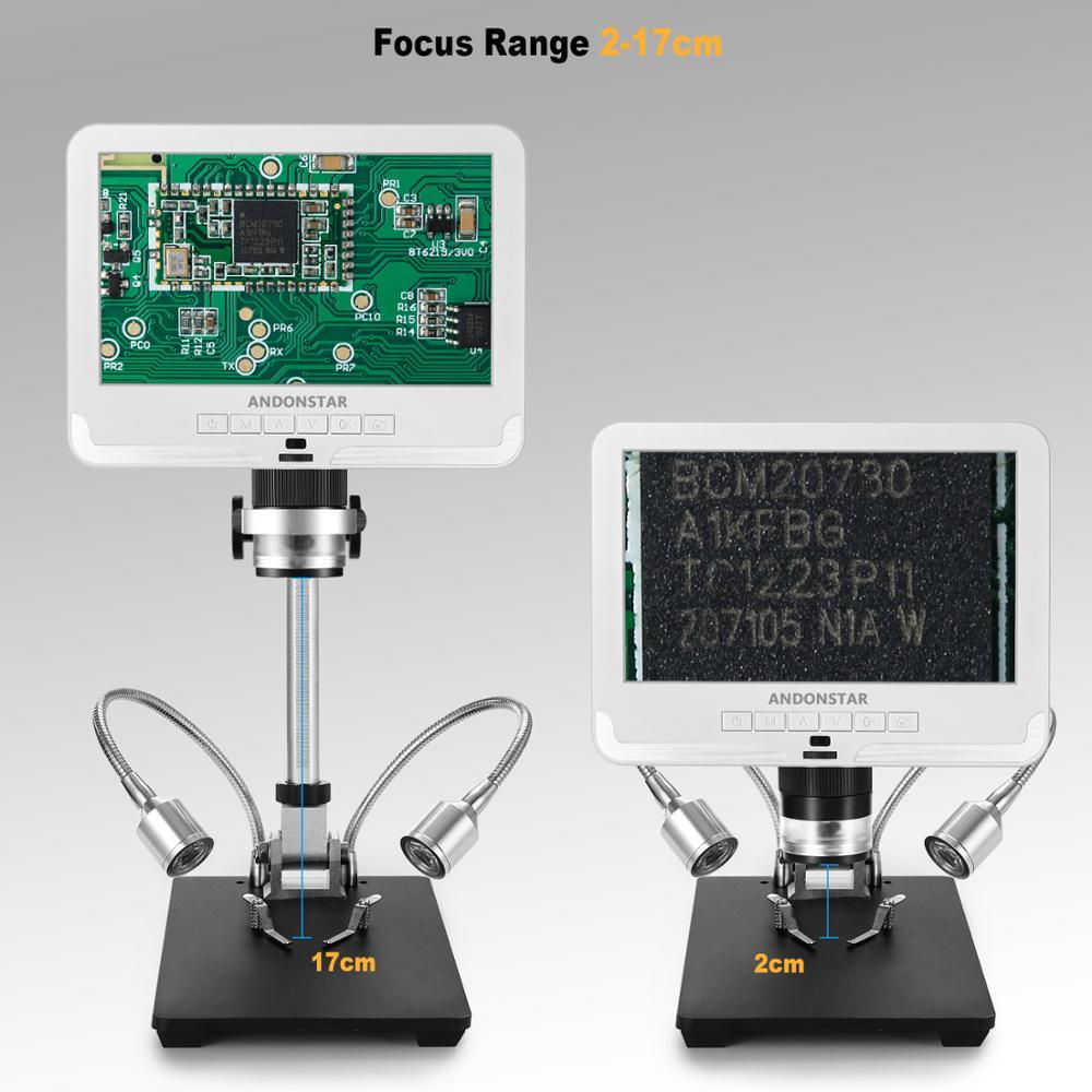 Andonstar 7 inch LCD Digital Microscope AD206 for PCB Phone Repair Soldering ToolIndustrial Maintenance Magnifier - 2