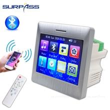 4 canal 25w bluetooth classe d na parede amplificador de áudio tela sensível ao toque para alto falante inteligente sistema cinema em casa fm rádio aux