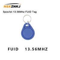 Tarjeta FUID RFID de una sola vez, bloque cambiable, 0 mandos de proximidad escribibles, copia de llave, 5unids/lote, 13,56 Mhz