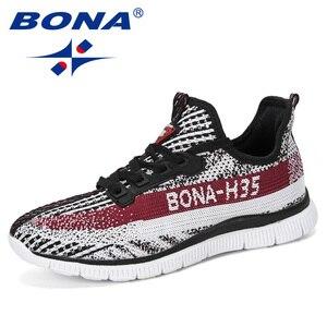 Image 5 - BONA 2019 nowe markowe trampki oddychające dorywczo antypoślizgowe męskie buty wulkanizowane męskie siatka powietrzna odporne na zużycie buty Tenis Masculino