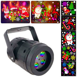 Christmas Projector Lamp 20 Patterns Christmas LED Stage Lights DJ Stage Lamp Christmas Decoration Lights for Home Family Party