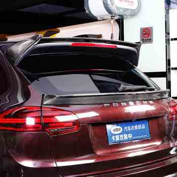 Fit for Porsche Cayenne carbon fiber rear spoiler  rear wing