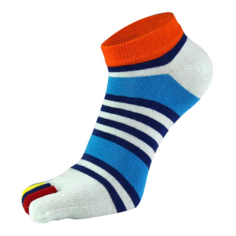 1 Pairs Lots Summer Men Socks Cotton Finger Breathable Five Toe Socks Pure Male Sock New