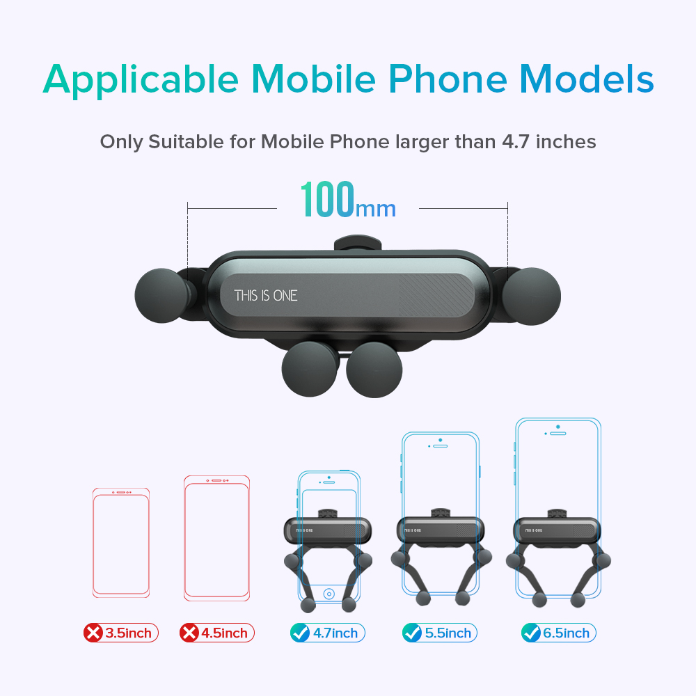 INIU-Gravity-Car-Holder-For-Phone-in-Car-Air-Vent-Clip-Mount-No-Magnetic-Mobile-Phone (3)