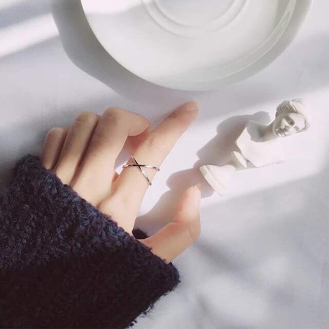 VINTAGE 925 เงินสเตอร์ลิงแหวนสำหรับผู้หญิงงานแต่งงานเครื่องประดับอินเทรนด์ขนาดใหญ่ปรับโบราณแหวน Anillos