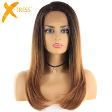 X-TRESS Synthetic Lace Front Wigs With Baby Hair Heat Resist
