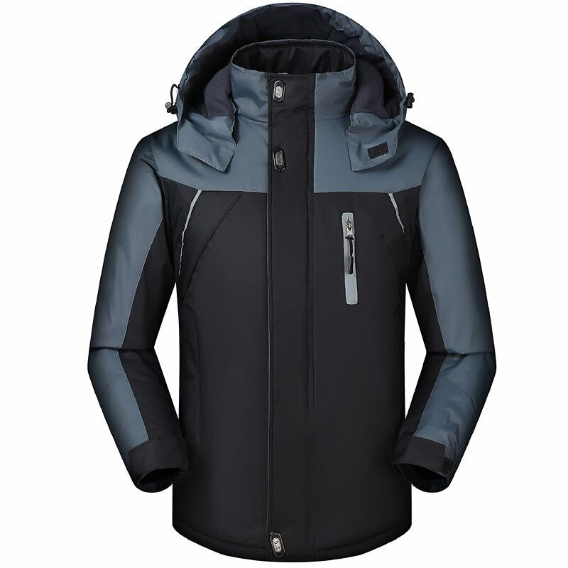 Men's Ski Suit Jacket Thermal Warmth Snowboarding Jacket Breathable Plus Size Sports Jacket For Camping Snowing Free Shipping