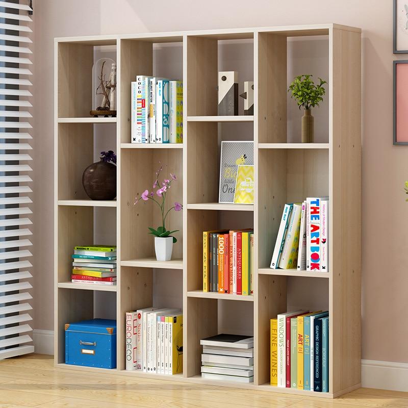 Man Patriarch Bookshelf Floor Storage Shelf Students Bookcase Combination Minimalist Modern Living Room Table Bookshelf Simplici