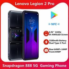 Lenovo – téléphone Gaming Legion 2 Pro 5G, écran 2021 pouces 6.92Hz AMOLED E4, batterie 5500mAg, Snapdragon 1400, NFC, Google, nouveau, 888 Original