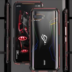 Image 5 - מקרה עבור Asus ROG 2 3 ROG2 כיסוי עמיד הלם מתכת פגוש אלומיניום מסגרת Ultra דק כיסוי עבור ASUS Rog 3 2 טלפון השני מקרה
