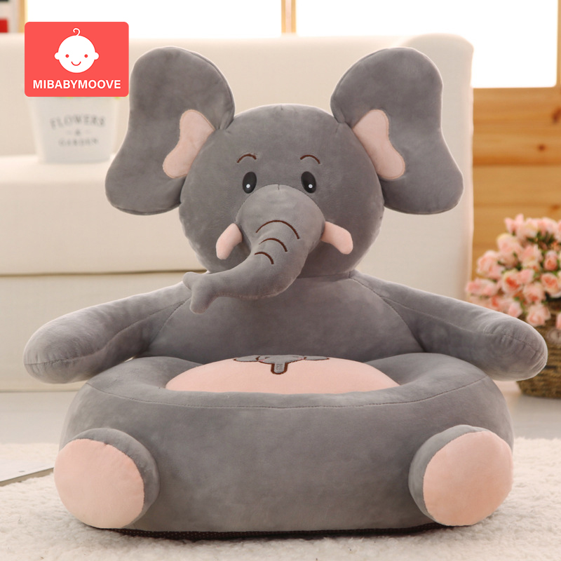 Cartoon Animal Baby Sofa Seat Chair Infant Baby Sitting Sofa Cushion Support Cotton Toddler Children Learning Feeding Chair