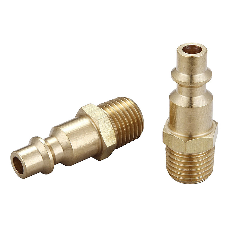 5 Pcs 1//4 NPT Male Pipe Brass Pipe Fitting Connector