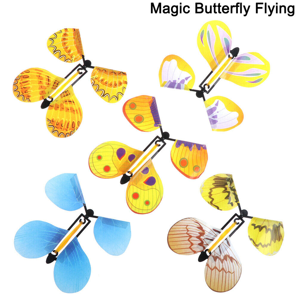 Flying butterfly surprise greeting cards book magic toy fly winds up magic props