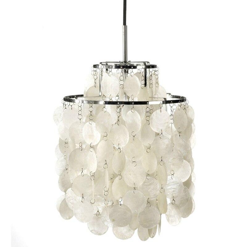Natural White Shell Wall Lamp Pendant Lamp Girl Bedroom Decoration Lighting LED E27 Restaurant Cafe Hotel Loft Pendant Lights