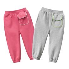 Girls Pants Pure Color Side stripe Sports Leggings for Kids Girls Pants Kids Leggings Sport Trousers Outwear New Fashion 2020 color block sports stirrup leggings
