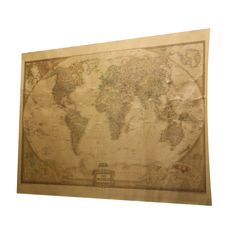New Arrival World Map 71x51cm Large Vintage Style World Map Retro Paper Poster Globe Old World Map Gifts