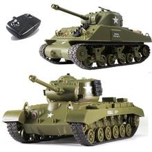 1/30 2,4G Радиоуправляемый Танк Шерман M4A3 M26 Pershing Боевой Военный танк детские игрушки, интерактивный Танк дистанционного управления для родителей и детей