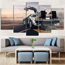 Back to The Future Poster 5 Panels Canvas Painting Print Home Decor Wall Art Decorative