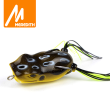 MEREDITH Popper Frog 11.7g 5.3cm Frog Lures Soft Baits For Snakehead Bass Lures Frog Fishing Floating Topwater